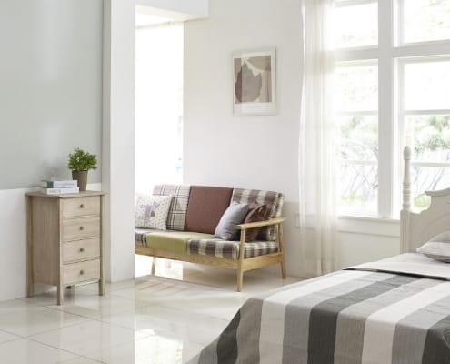 chambre avec lit